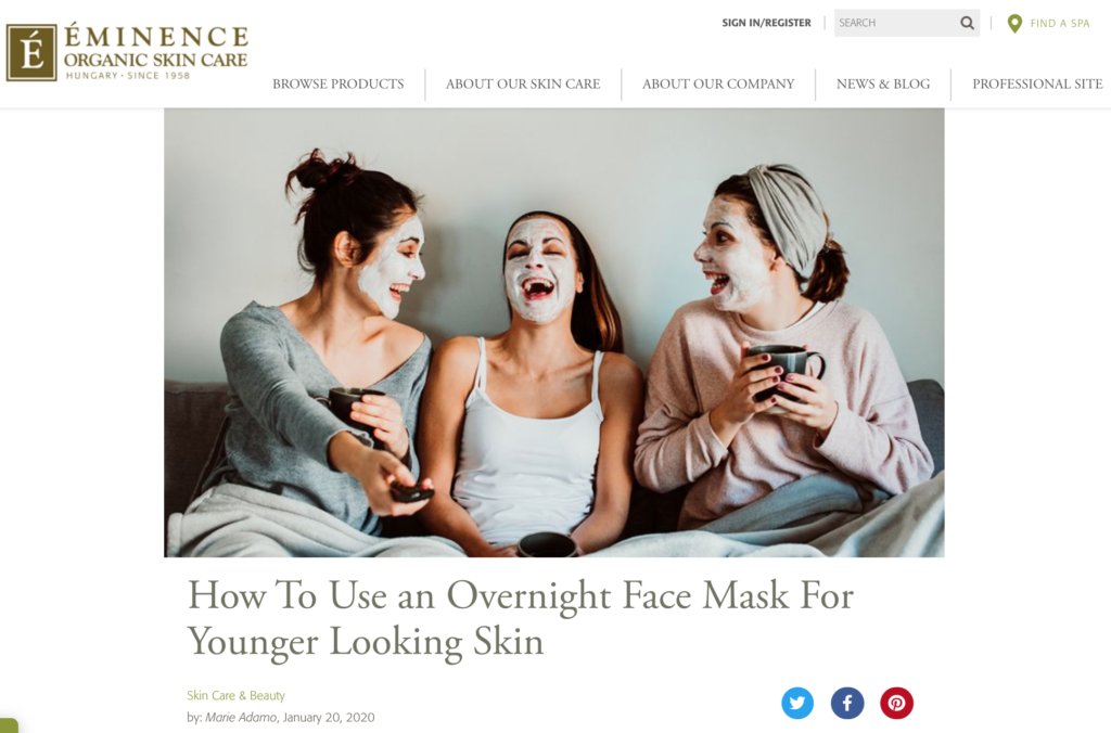 How to use an Overnight Face Mask for Younger Looking Skin — blog post