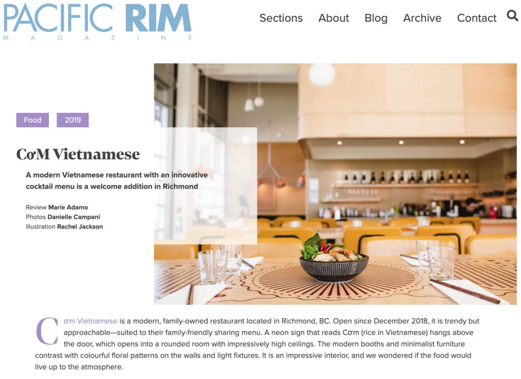CoM Vietnamese — restaurant review for PRM
